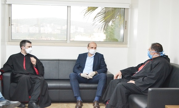 Hasan During His Visit To Saydet Zgharta University Medical Center